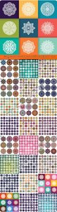 Vintage decorative elements mandalas oriental pattern vector