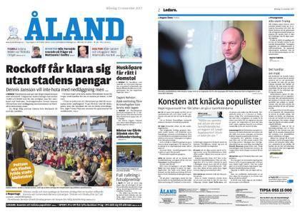 Ålandstidningen – 13 november 2017