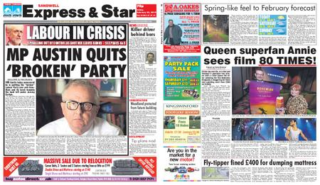 Express and Star Sandwell Edition – February 22, 2019