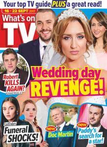 What's on TV - 16 September 2017