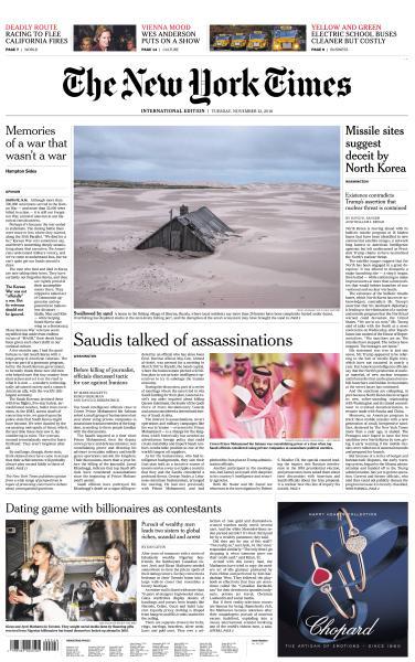International New York Times - 13 November 2018