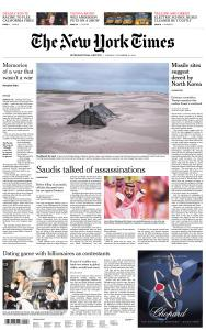 International New York Times - 13 November 2018