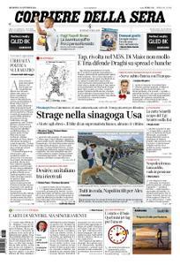 Corriere della Sera – 28 ottobre 2018
