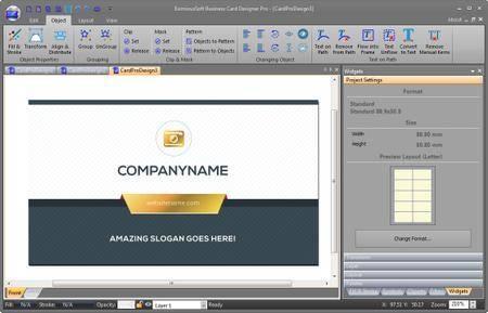 EximiousSoft Business Card Designer Pro 3.21