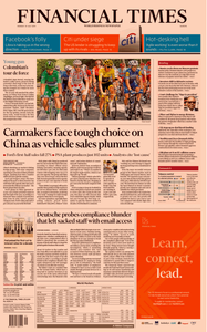 Financial Times Europe – 29 July 2019