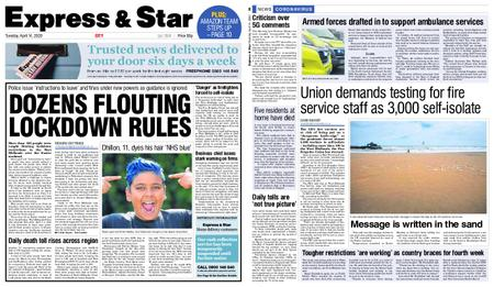 Express and Star City Edition – April 14, 2020