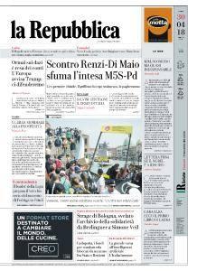 la Repubblica - 30 Aprile 2018