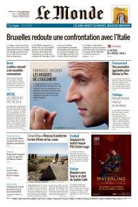 Le Monde du Dimanche 14 et Lundi 15 Octobre 2018