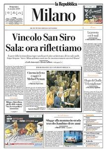 la Repubblica Milano - 6 Ottobre 2019