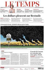 Le Temps - 28 août 2019