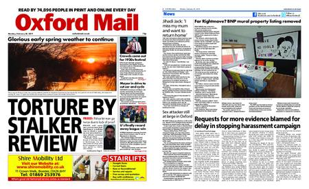 Oxford Mail – February 25, 2019
