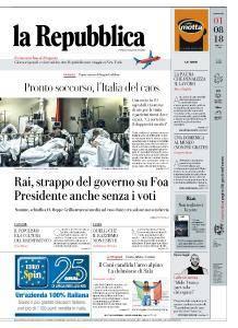 la Repubblica - 1 Agosto 2018