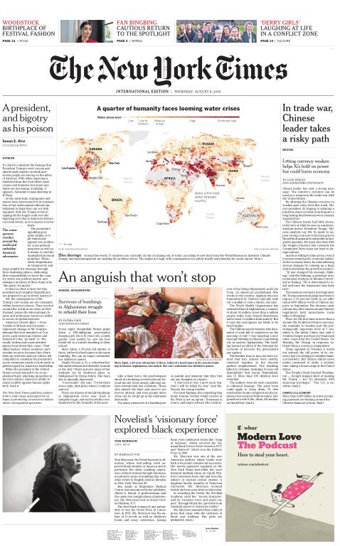 International New York Times - 08 August 2019