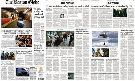The Boston Globe – September 20, 2019