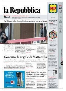 la Repubblica - 1 Marzo 2018