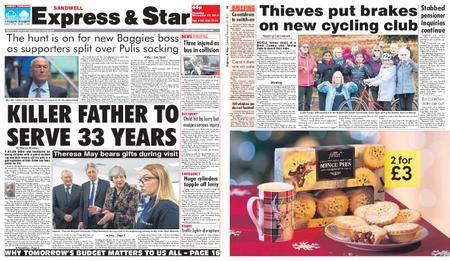 Express and Star Sandwell Edition – November 21, 2017
