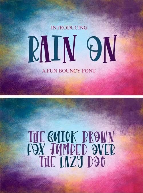 CM - Rain On - Font 2370609