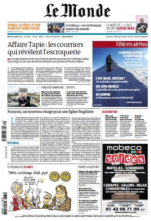 Le Monde - Mardi 30 Juillet 2013