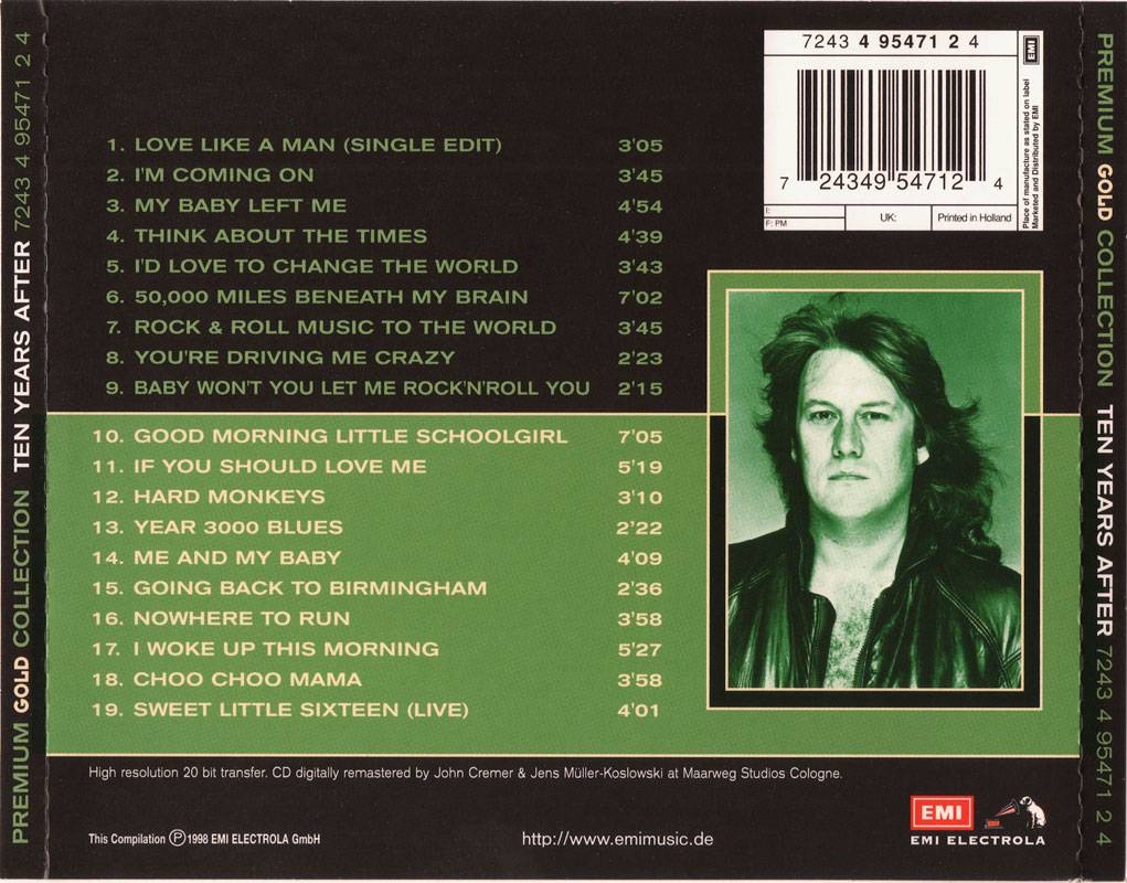 Ten Years After Premium Gold Collection 1998 Repost