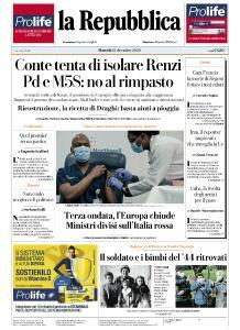 la Repubblica - 15 Dicembre 2020