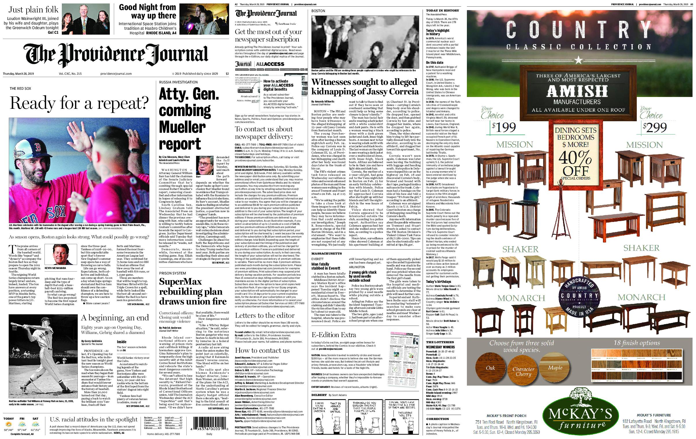 The Providence Journal – March 28, 2019 / AvaxHome
