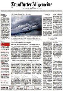 Frankfurter Allgemeine Zeitung vom 09 August 2011