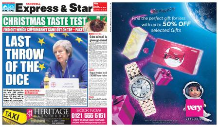 Express and Star Sandwell Edition – December 10, 2018