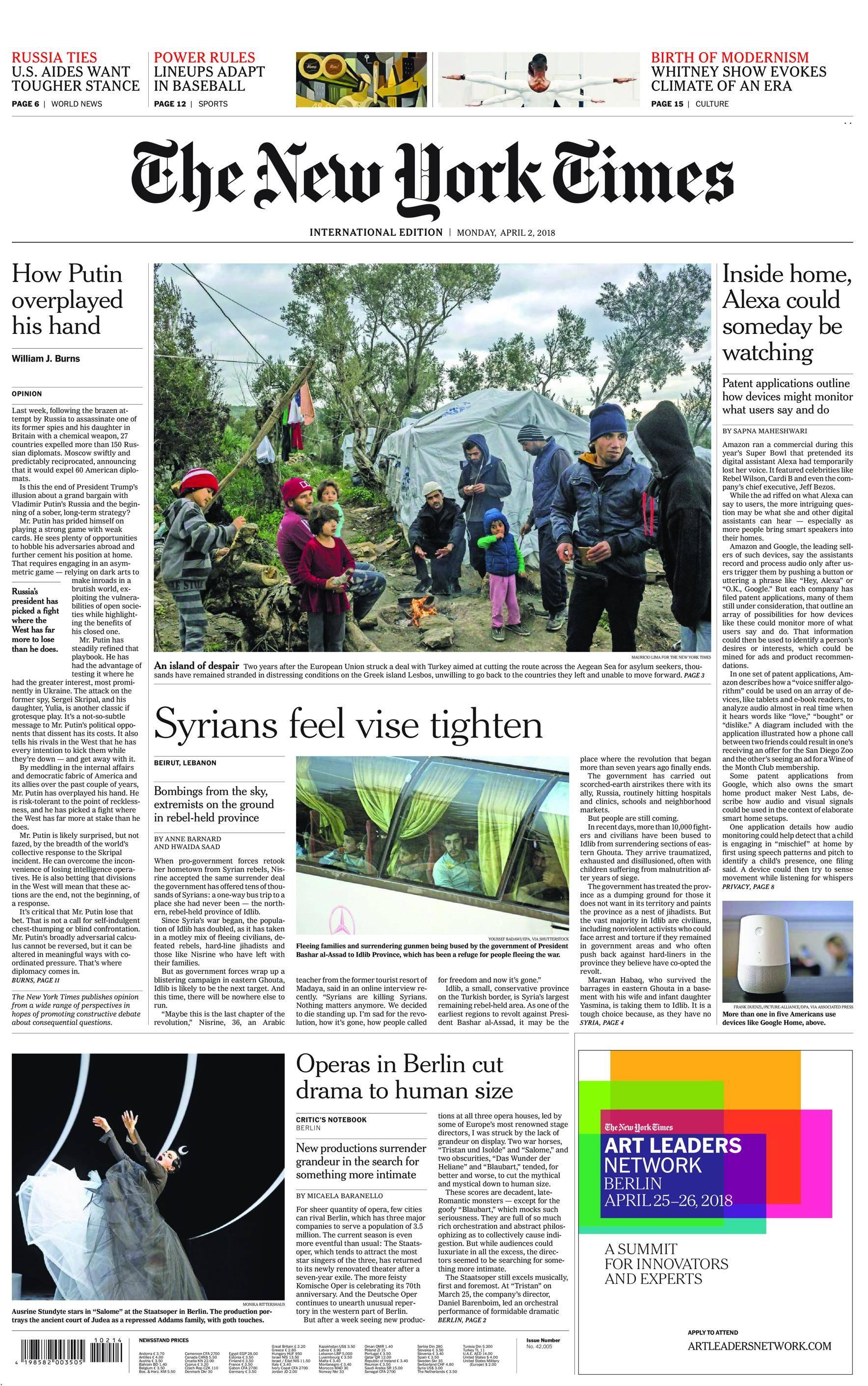 International New York Times - 02 April 2018