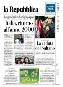 la Repubblica - 2 Aprile 2019
