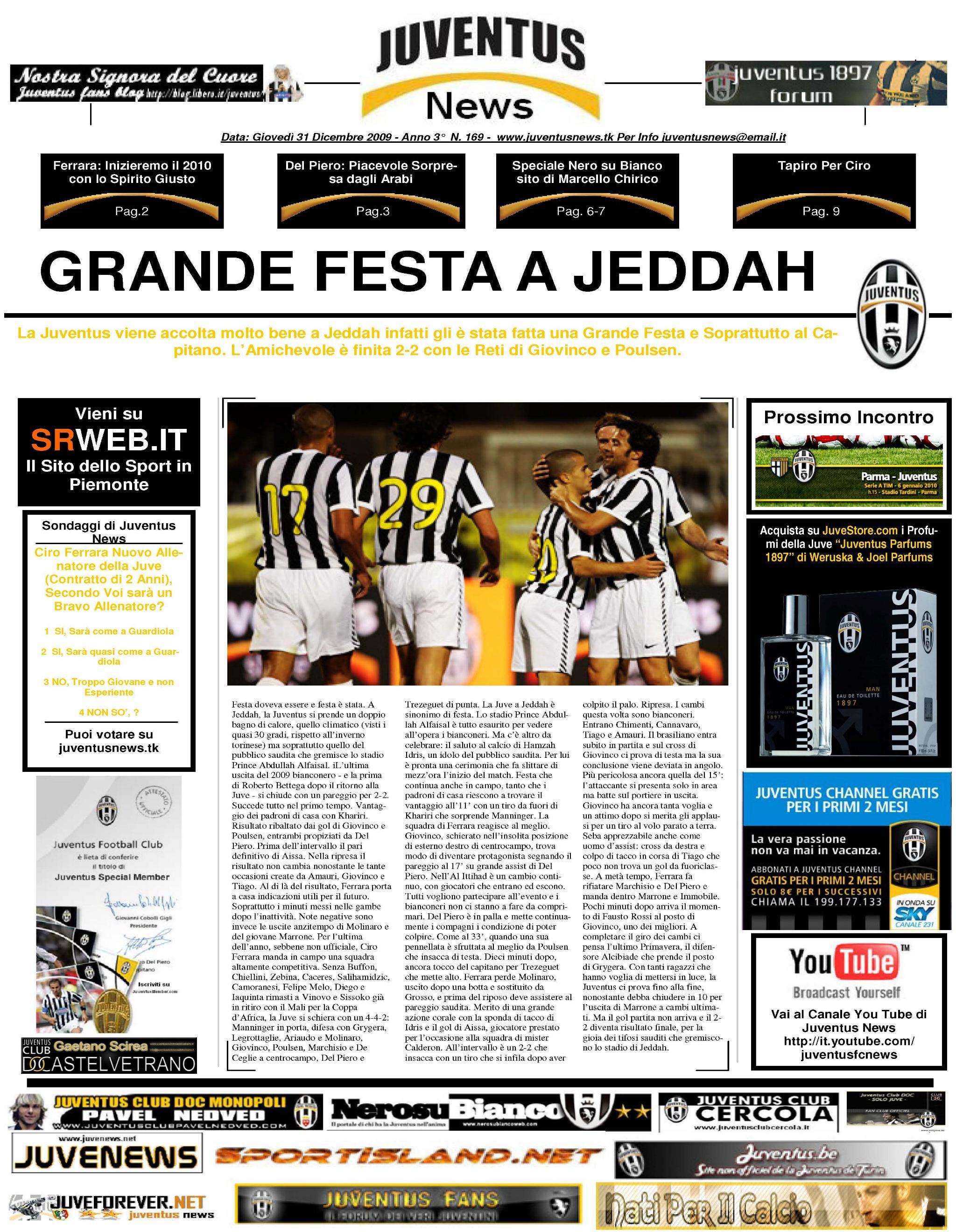 Juventus News 31.12.2009