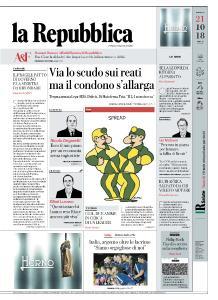 la Repubblica - 21 Ottobre 2018