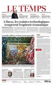 Le Temps - 24 janvier 2018