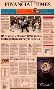 Financial Times Europe – 14 August 2019