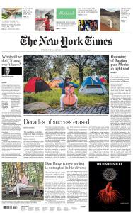 International New York Times - 5-6 September 2020