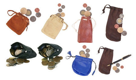 Purse Coins - Clipart for Photoshop
