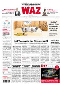 WAZ Westdeutsche Allgemeine Zeitung Oberhausen-Sterkrade - 31. Dezember 2018