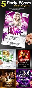 Party Flyer Templates Bundle