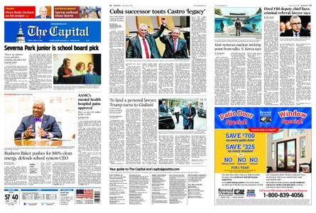 The Capital – April 20, 2018