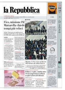 la Repubblica - 23 Aprile 2018