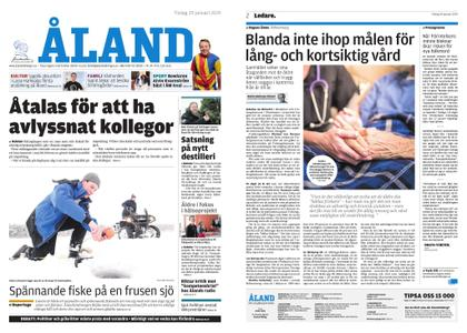 Ålandstidningen – 29 januari 2019
