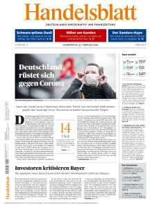 Handelsblatt - 27 Februar 2020