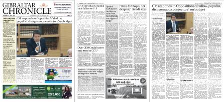 Gibraltar Chronicle – 27 July 2021