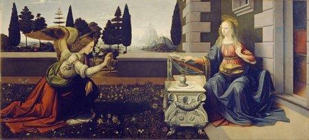 Leonardo da Vinci and Andrea del Verrocchio - Annunciazione