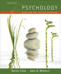 Psychology: Modules for Active Learning, 12 edition