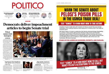 Politico – January 16, 2020