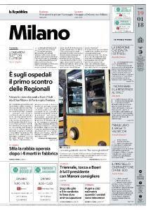 la Repubblica Milano - 19 Gennaio 2018