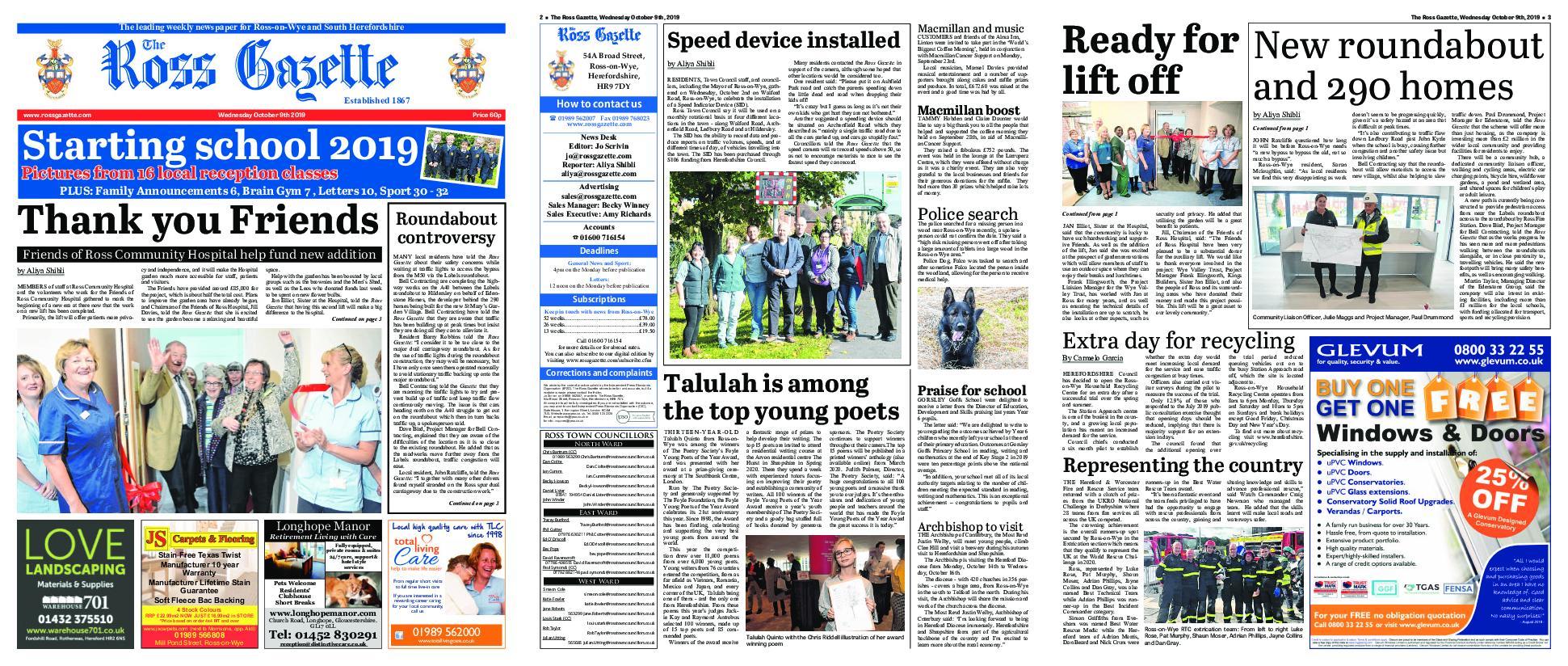 The Ross Gazette – October 09, 2019