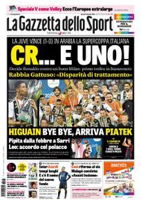 La Gazzetta dello Sport Roma – 17 gennaio 2019