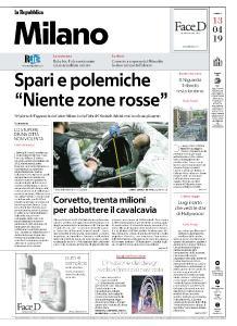 la Repubblica Milano - 13 Aprile 2019