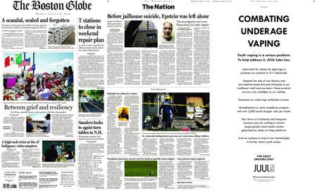The Boston Globe – August 12, 2019